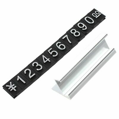 Jewelry store metal ground Arabic numbers combined price tags 10 groups J5T8