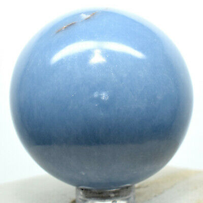 47mm Blue Angelite Sphere Natural Sparkling Crystal Angelic Mineral Stone - Peru
