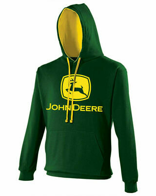 John Deere Tractor Enthusiast Farming Unisex Adults Hoodie Sweat Top Tee Hoody