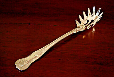 "SHEFFIELD SILVER CO-Silverplate Pasta Fork/Server-Italy-11""-Shell Pattern-Beauty"