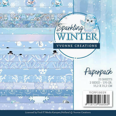 Paper-pad Papier-block Sparkling Winter Weihnacht Xmas Yvonne Creation YCPP10029