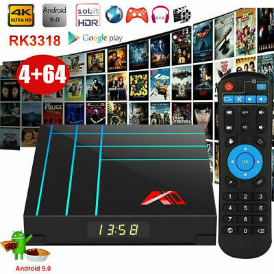 A9 Smart Android 9.0 TV Box RK3318 Quad HD 4K 4GB / 64GB Lecteur multimédia O0U6