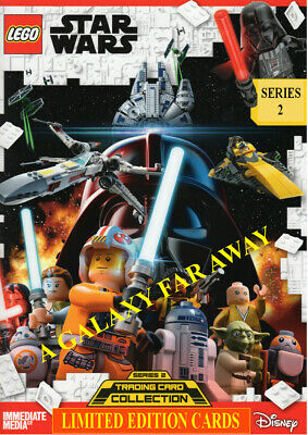 LEGO STAR WARS SERIES 2 LIMITED EDITION TRADING CARDS ( select your card)
