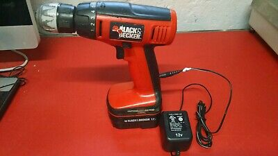 Black & Decker Cdc1200 Cordless Drill With Battery & Charger