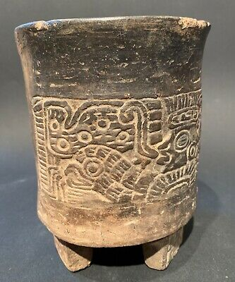 Teotihuacan/Mayan Owl Shield Warrior Lord ~. Pre-Colombian 200 BC- 500 AD