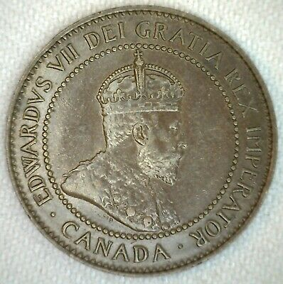 1906 Canada Large Cent Coin 1c Canadian Bronze Penny One Cent AU Almost Unc