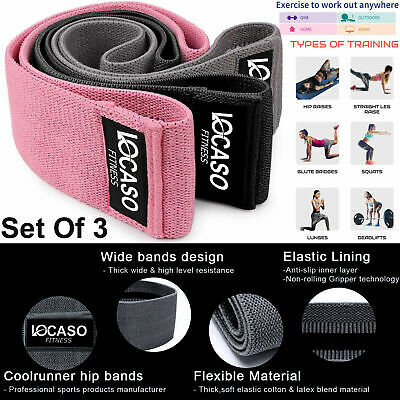 Resistance Band Heavy Duty Booty Band Fabric Fitness Equipment Yoga Non Slip UK