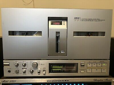 AKAI GX-77 Reel To Reel 4 Track Stereo Tape Deck - Tested and Works Well