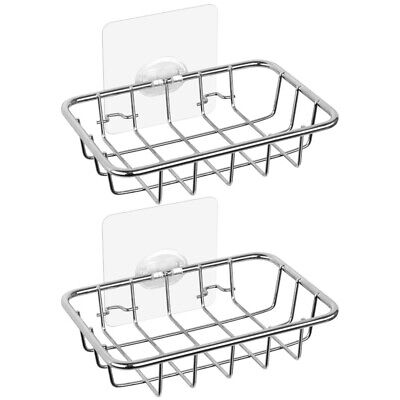 2-Pack Soap Holder, Rustproof Soap Dish With Adhesive Wall Mounted For Bath  6W1