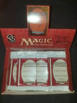 (1x) Magic Booster Fallen Empires Old school OVP Sealed The Gathering MTG