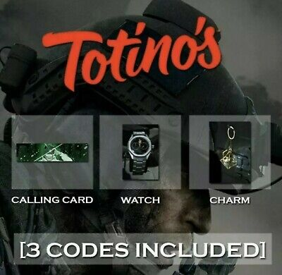 Call of Duty Modern Warfare Totinos DLC ALL 3 (EBay Message delivery)#1 TRUSTED!