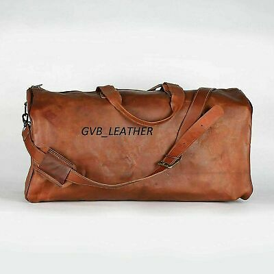 Duffel Luggage Gym Weekend Men Brown Handmade Holdall Bag Leather Kodiak Travel