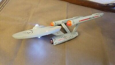 Star Trek USS Enterprise NCC-1701 Electronic Starship Lights up and Talks 15.5""