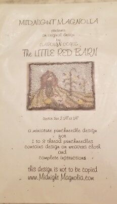 Carolyn Coyle Miniature Punchneedle Embroidery The Little Red Barn