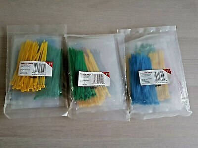 450 Small Assorted Colour Cable Ties