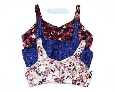 """J2-1 US /""""Comfort Choice/"""" 100/% Cotton Wire-Free Full Coverage Bras Plus Size"""