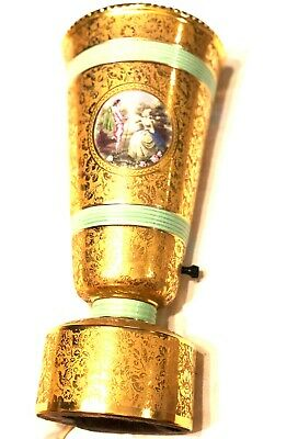 Antique French Sevres Boudoir table Lamp Vase sconce large 18th C beading relief