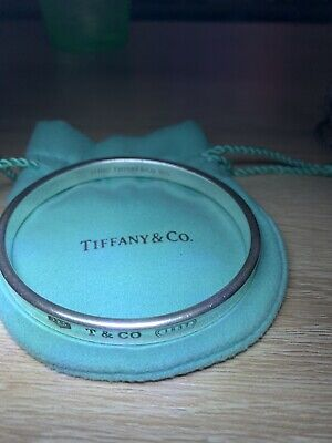 Authentic Tiffany & Co. Bracelet Bangle 1837 Sterling Silver