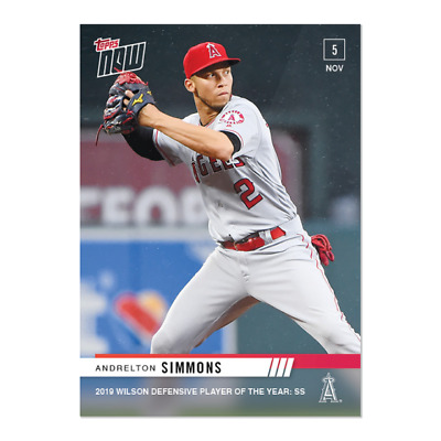 2019 Topps NOW OS-30 Andrelton Simmons Los Angeles Angels [11.5.19]