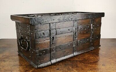 A Fabulous Late 16th Century Iron Bound Collection Chest.