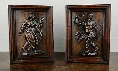 A Pair Of 17th Century Carved Panels