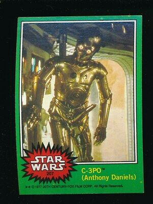 1977 Topps Star Wars Complete Green 4th Series Set With C-3PO Boner ERROR #207