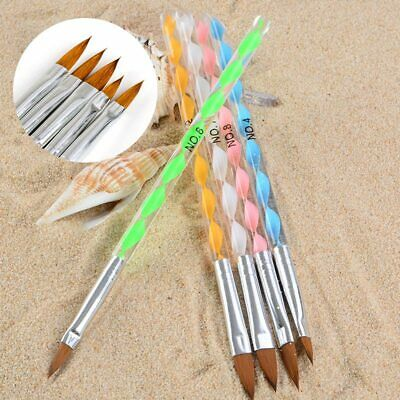 5pcs/set Acrylic Nail Art Brush Pen UV Gel Polish Painting Drawing Liner Brushes