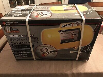NEW IN BOX Performance Tool W10011 Portable Air Tank 11 Gallon Max125 PSI Flats