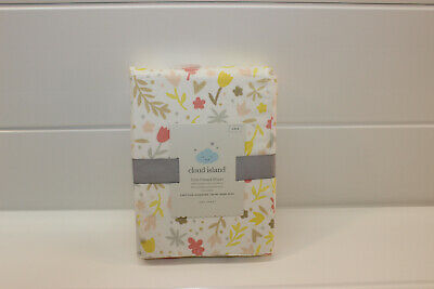 Cloud Island Pink Watercolor Floral Fitted Crib Sheet for Baby Infant New