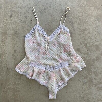 Vintage Floral Christian Dior Union USA Lingerie Teddy Large Pin Up