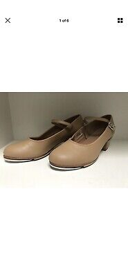 BLOCH Tap Dancing Shoes Size 6 Tan Bloch Leather