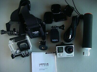 GoPro Hero 4 Silver Camcorder with LCD Camera & 32GB SD card Ready to Use