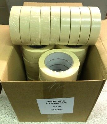 2x Automotive Masking tape 24mm 1'' HIGH QUALITY/LOW BAKE  36 rolls case