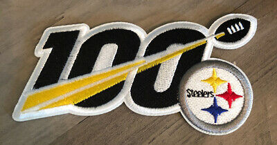 "2019 100th ANNIVERSARY SEASON PITTSBURGH STEELERS NFL 5"" PATCH 100 YEARS IRON ON"