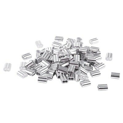 1/16-inch Wire Rope Aluminum Sleeves Clip Fittings Cable Crimps 100pcs J4Q6