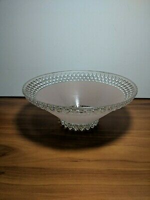"""Vintage Antique Art Deco Ceiling Light Hobnail Frosted Pink Glass Shade 10"""""""
