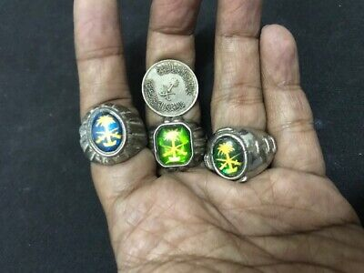Wholesale 4Pc Old Ring Saudi Arabia Sword Palm Nation Nomad Tribal Assorted J6