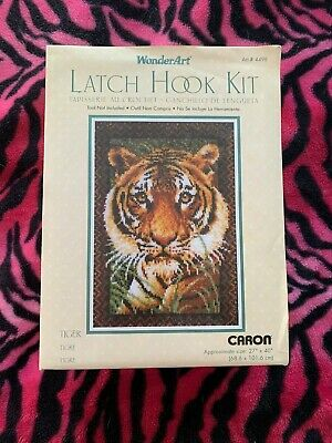 Wonderart Latch Hook Kit - Tiger