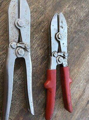 Set Of Two Malco Tools Model C5 Pipe Crimper Pliers - HVAC - Ductwork