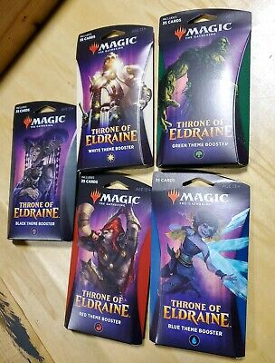 MtG Magic Throne of Eldraine Theme Boosters Set of all 5 wocc6142