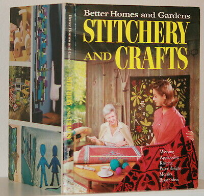 1966 BETTER HOMES & GARDENS STITCHERY AND CRAFTS Large Hardback Book Color Pics