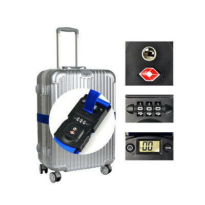 Smart Luggage Strap with Digital Scale & TSA Approved Lock Travel Suitcase B3V2N