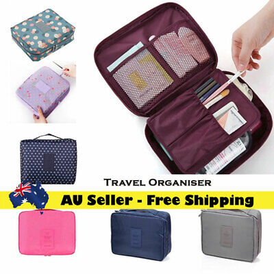 Travel Cosmetic Storage MakeUp Bag Folding Toiletry Wash Organiser Pouch