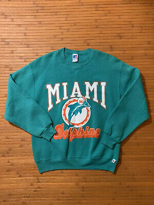 Vintage Russell Athletic Miami Dolphins Crew Sweater SZ L