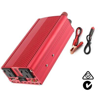12V - 240V 1500W 3000W  Power Inverter USB Boat Camping Caravan