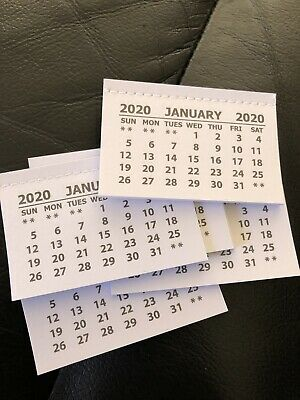 2020 MINI CALENDAR TEAR OFF PADS MONTH TO VIEW - Pack of 10