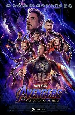 AVENGERS: ENDGAME 27x40 ORIGINAL FINAL US D/S MOVIE POSTER ONE SHEET