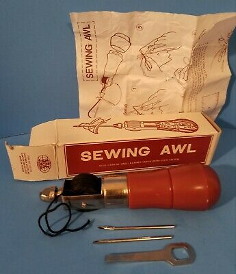 Vintage Chadwick Miller Lock Stitch Sewing Awl Kit for Leather & Canvas