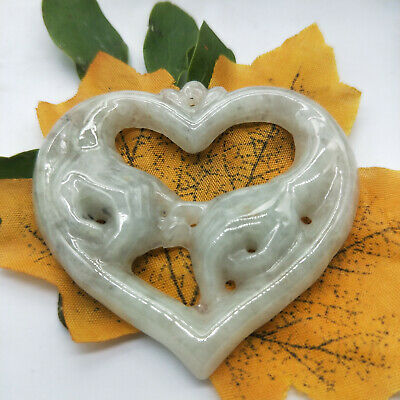 100% Natural hand Green Natural A Jade jadeite Pendant hold your hand A19