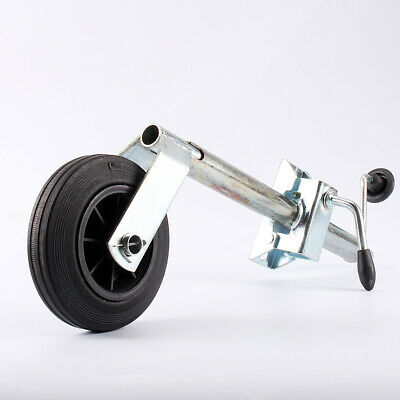 Heavy Duty 35mm Jockey Wheel +Split Clamp Steel Caravan Trailer Plant Container